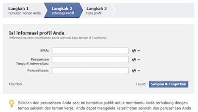 panduan membuat facebook