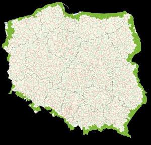mapa zaliczonych gmin MUNICIPIOS VISITADOS