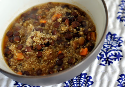 Nature's Earthly Choice - Easy Quinoa Lentil Soup - Photo by Taste As You Go