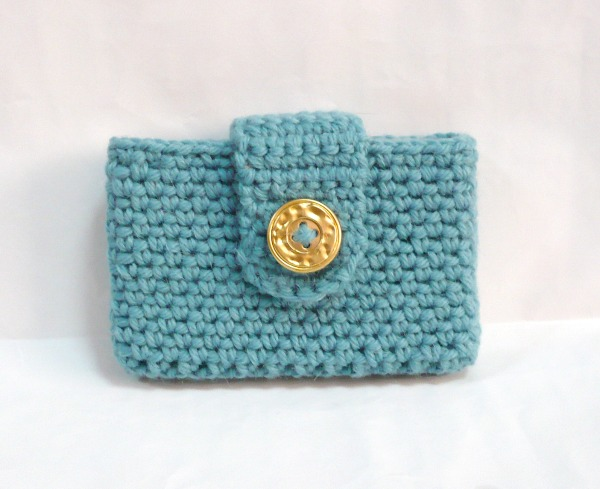 Nicely created for you lake blue crocheted businesscredit card holder lake blue crocheted businesscredit card holder reheart Choice Image