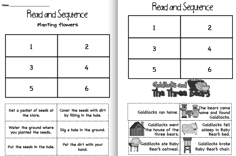 Sentence Sequencing Worksheets : Sentence sequencing worksheets grade printable