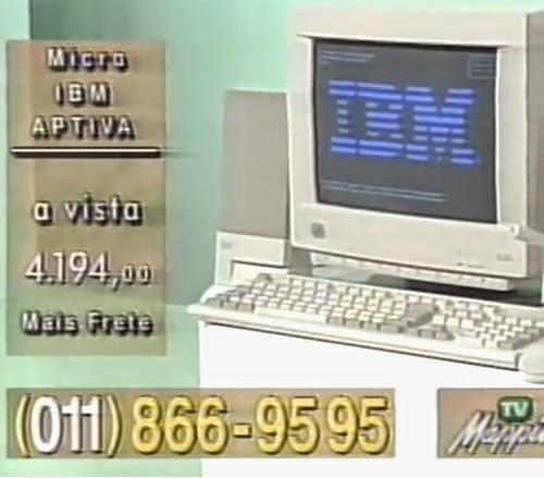 Propaganda do Microcomputador IBM apresentado por Emílio Surita em 1995. Windows 95 a um preço absurdo.