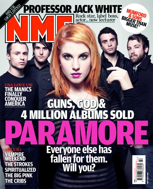 nme magazine cover. nme magazine cover.
