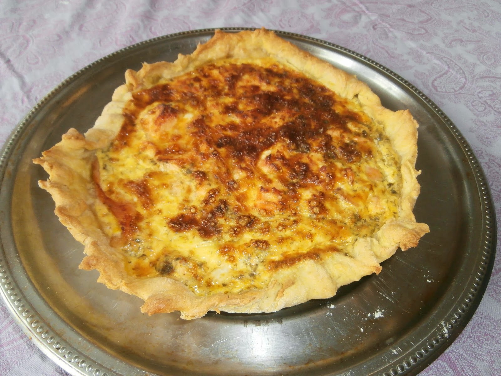 my culinary curriculum quiche aux deux saumons two salmon quiche. Black Bedroom Furniture Sets. Home Design Ideas