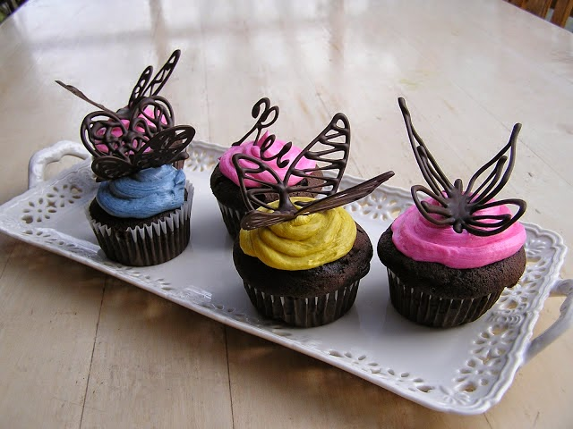 How To Make Chocolate Butterfly Cake Decorations