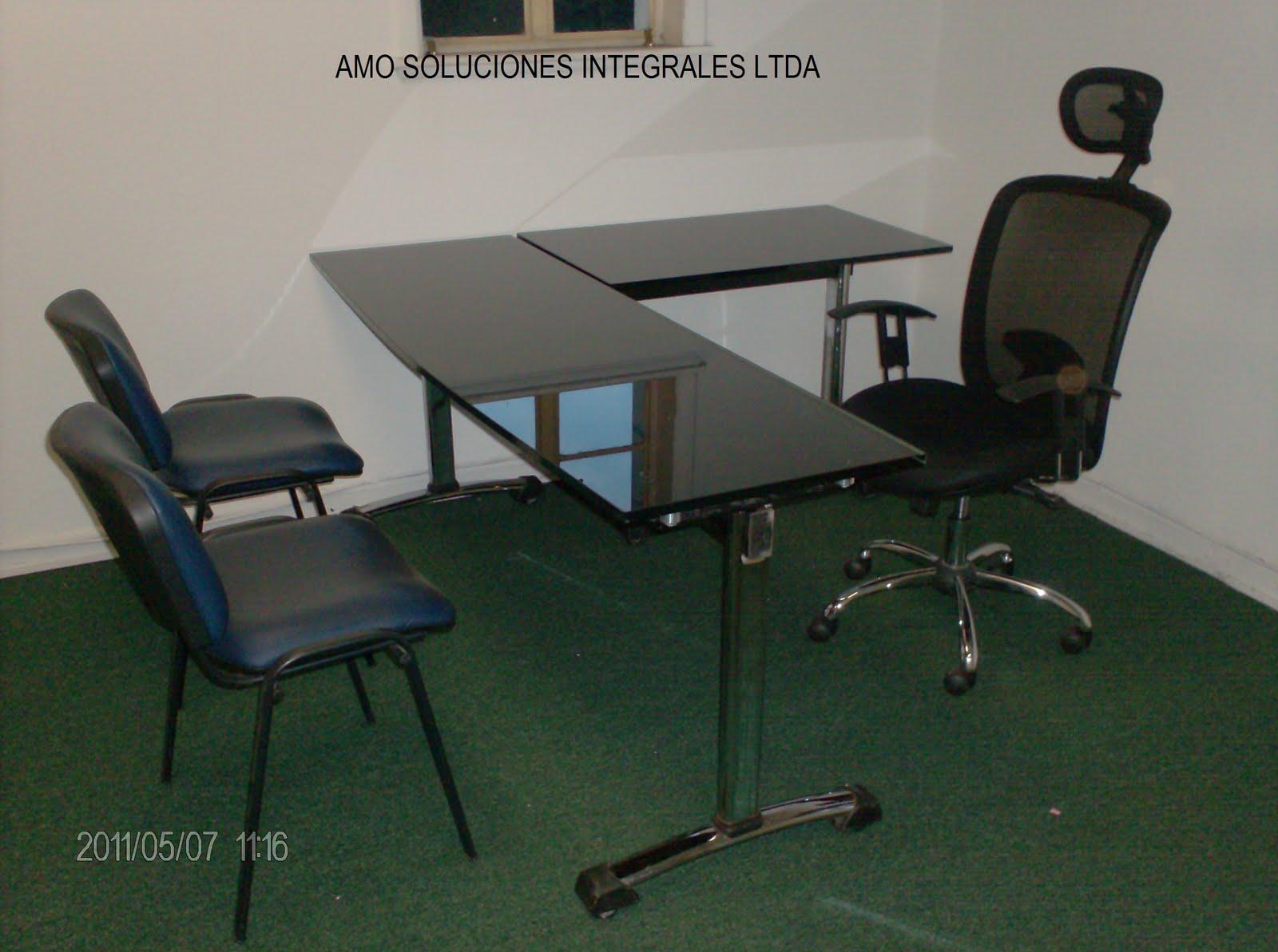 A m o soluciones integrales ltda escritorios para for Alquiler de muebles de oficina