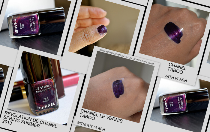 Revlation de Chanel Spring Summer 2013 Makeup Collection Indian Beauty Blog Darker Skin Le Vernis Nail Polish Taboo 583 Photos