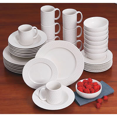 ... reasonably priced but hasnu0027t got the greatest reviews. Thinking this may be one of those... you get what you pay for  deals. Psaltsgraff Basket Weave & B.E. Interiors: Simple yet elegant dinnerware.