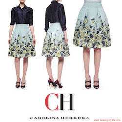 Queen Letizia Style CAROLINA HERRERA Dress and CAROLINA HERRERA Sandals