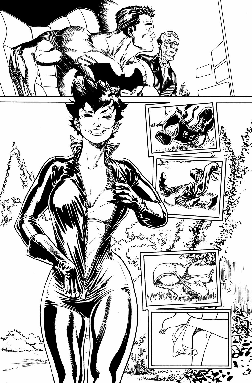 CATWOMAN #03 unseen pages by Guillem March