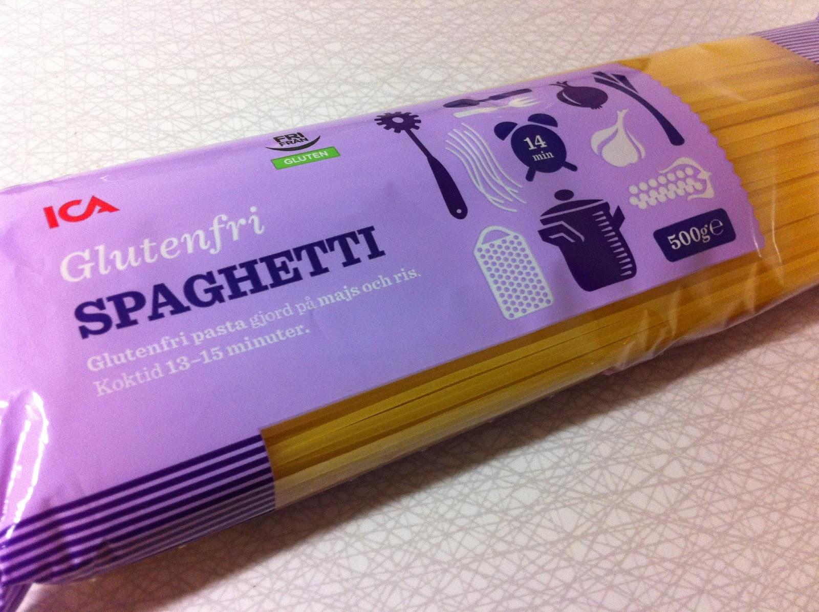glutenfri pasta innehåll