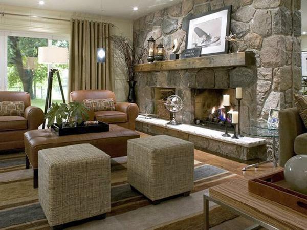 Salas con chimenea ideas para decorar dise ar y mejorar - Chimeneas para salon ...