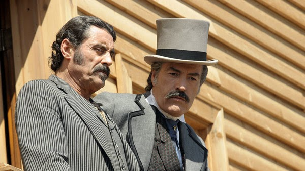 Powers Boothe and Ian McShane in Deadwood