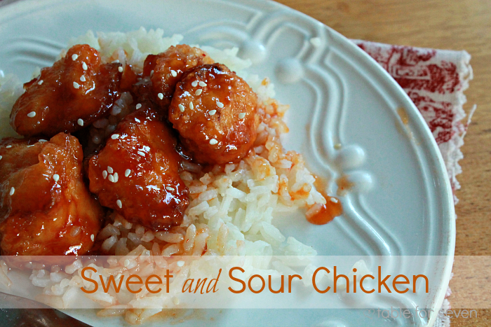 Sweet and Sour Chicken • Table for Seven