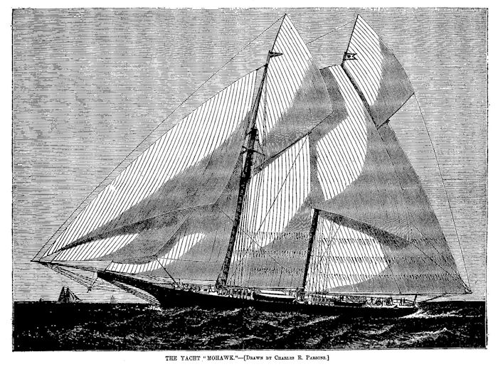 The American schooner Mohawk, built in 1875, was a spectacular yacht.