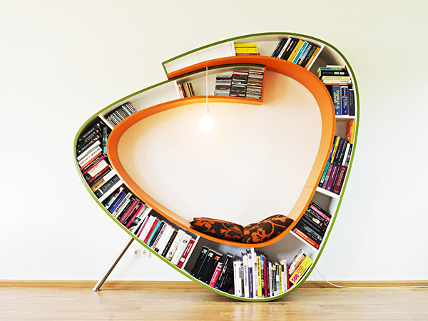 Bookcase like a bookworm on Design and fashion recipes