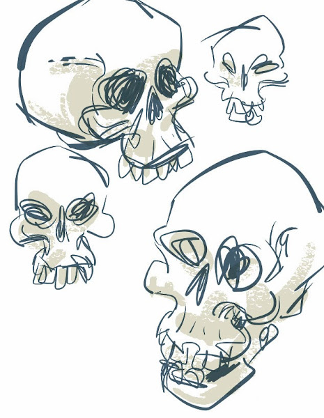 sketches of a skull