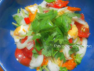 塩漬け卵のサラダ ヤム・カイケム