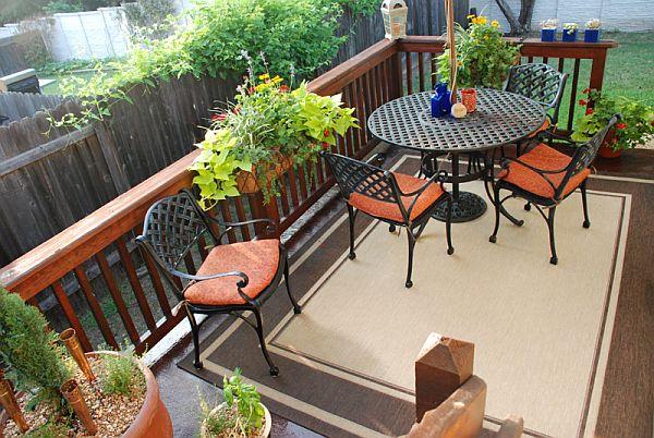 Interior design decorate balcony for Plants decoration in balcony