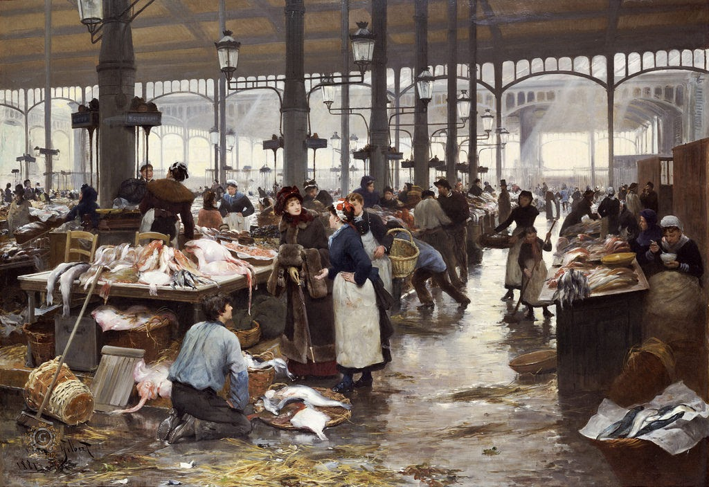 victor gabriel gilbert fish hall at the central market