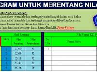 Aplikasi Excel Merentangkan Nilai Ujian Sekolah Versi Excel Berkas Sekolah