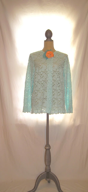 Vintage Romantic Short Top, Spring Summer Lace Tunic Shirt Jacket Top