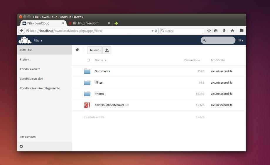 ownCloud in Ubuntu