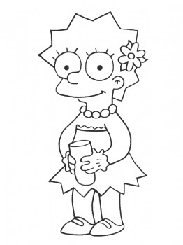 Cartoons coloring pages lisa simpsons coloring pages - Coloriage des simpsons ...