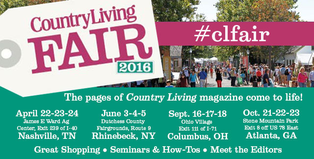 2016 Country Living Fair Show Dates