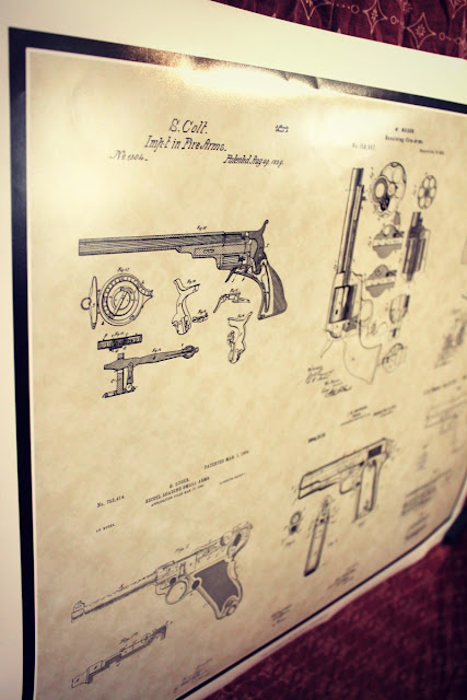 Gun patent poster from www.patensasart.com