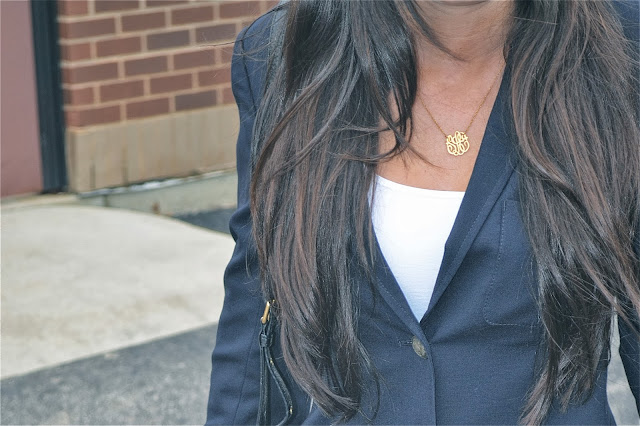 monogrammed necklace by Max & Chloe