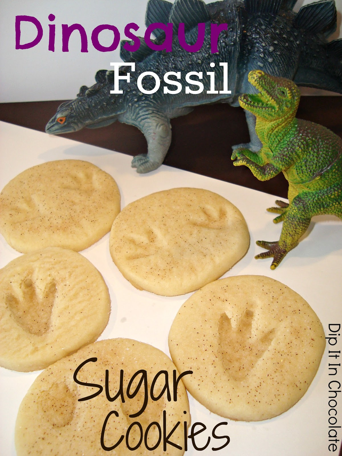Dinosaur Fossil Sugar Cookies (Basic Sugar Cookie Recipe) ~ Dip it in ...