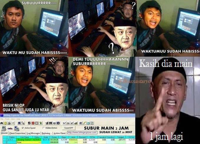 arya wiguna vs eyang subur meme