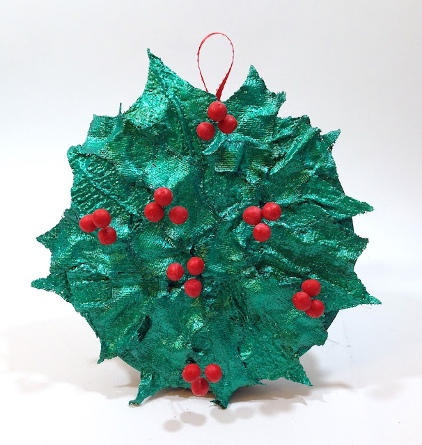 christmas holly berry wreath lisa fulmer