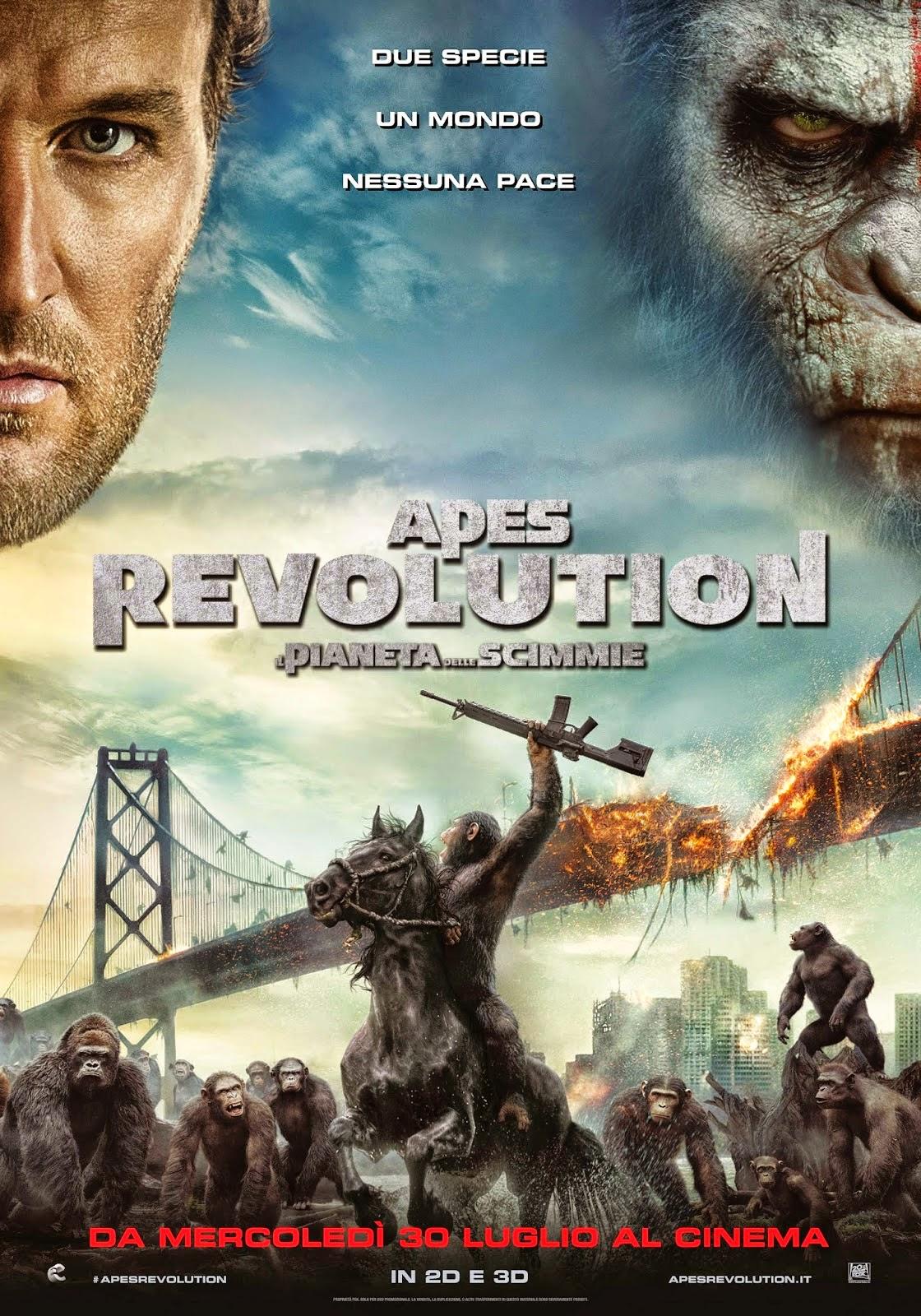 Apes Revolution Pianeta delle Scimmie recensione