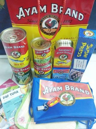 produk ayam brand, door gift event ayam brand