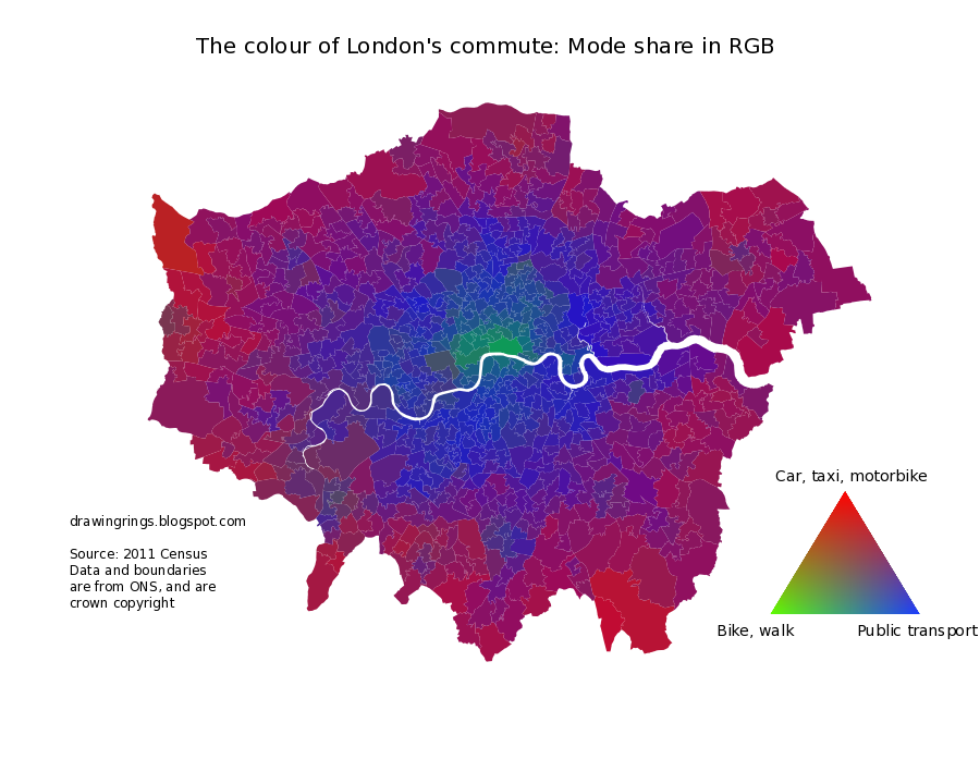Drawing rings around the world the colour of londons commute ill probably be looking at that later in the week but first here is a map which attempts to summarise the transport mix across all of london in a single gumiabroncs Images