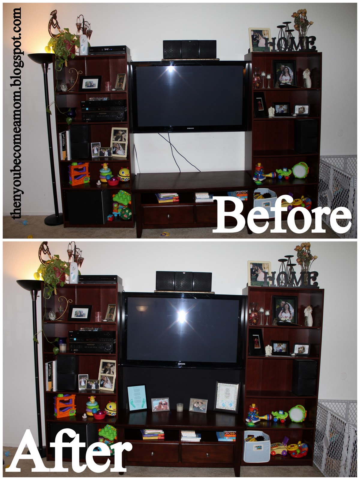 then you become a mom diy tv cord cover. Black Bedroom Furniture Sets. Home Design Ideas