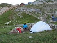ツール・ド・モンブラン ボンノム小屋 テント