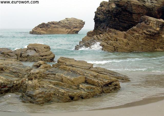 Playa de las Catedrales, en Ribadeo (Galicia)