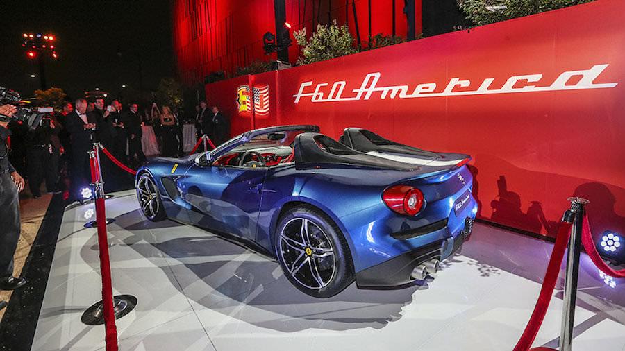 新型の限定モデル「フェラーリF60アメリカ」をイベントで初公開