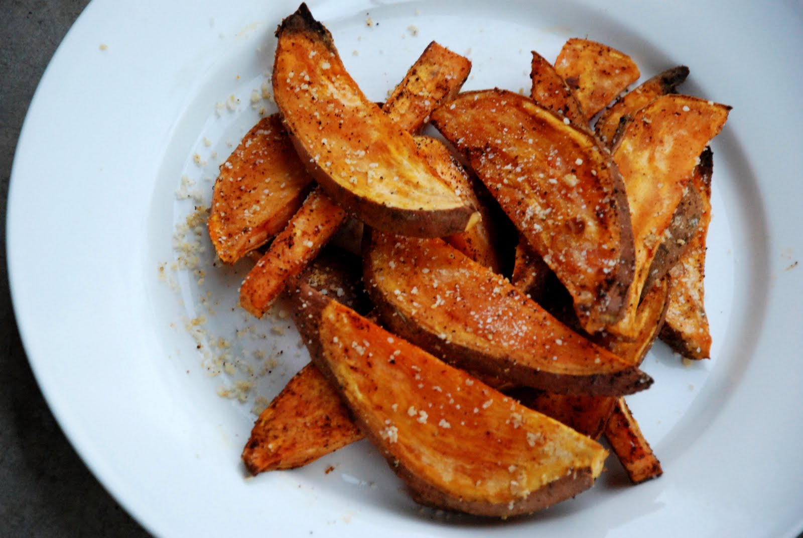 cinnamon: sweet potato wedges with parmesan