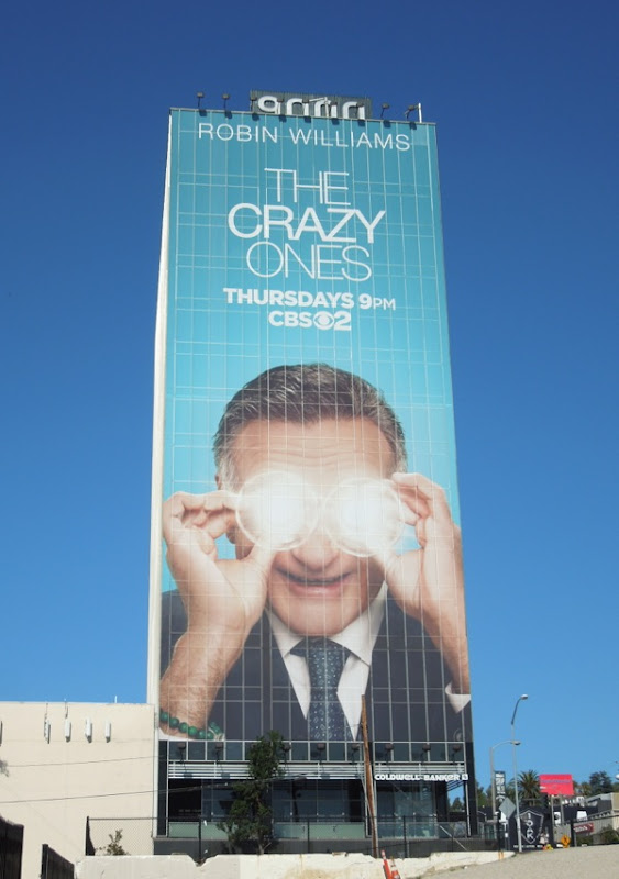 The Crazy Ones giant billboard Sunset Strip
