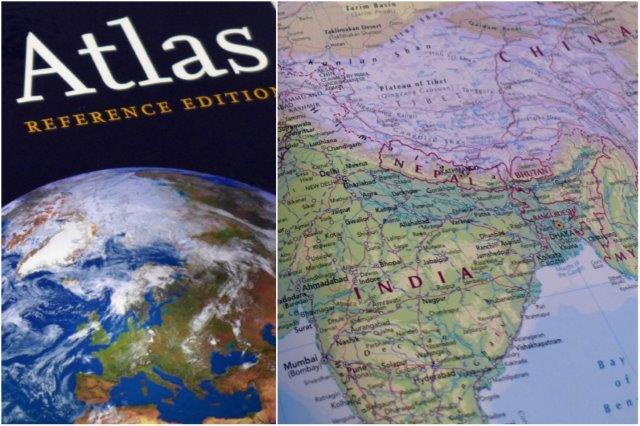 Atlas y mapa