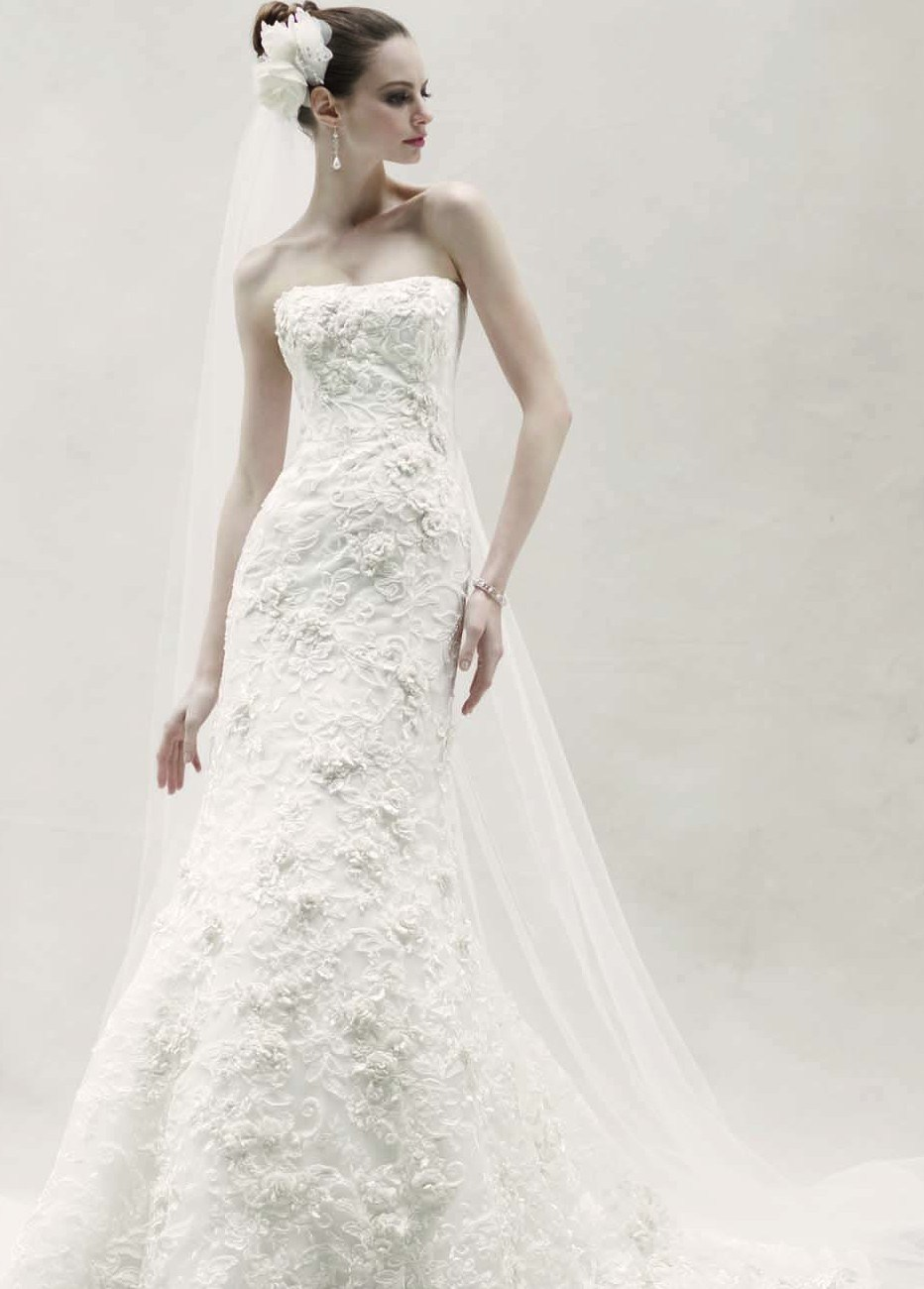 Oleg cassini 2013 spring bridal collection for Wedding dress designer oleg cassini