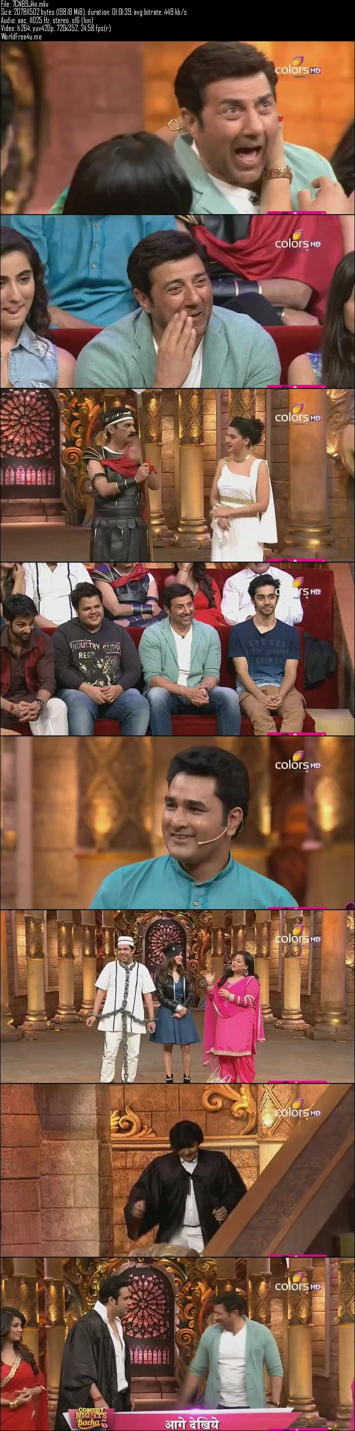 Screen Shot Of Comedy Nights Bachao 9th January 2016 Episode 18 200MB Watch Online