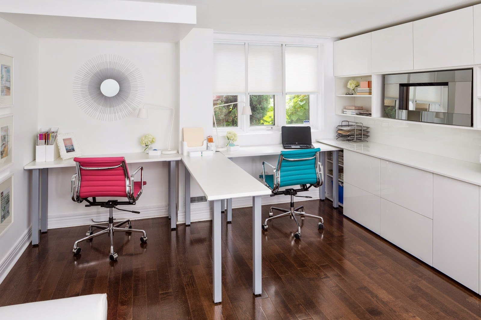 dual office desk. A Home Office And Guest Room: How To Create Multifunctional Space Dual Desk