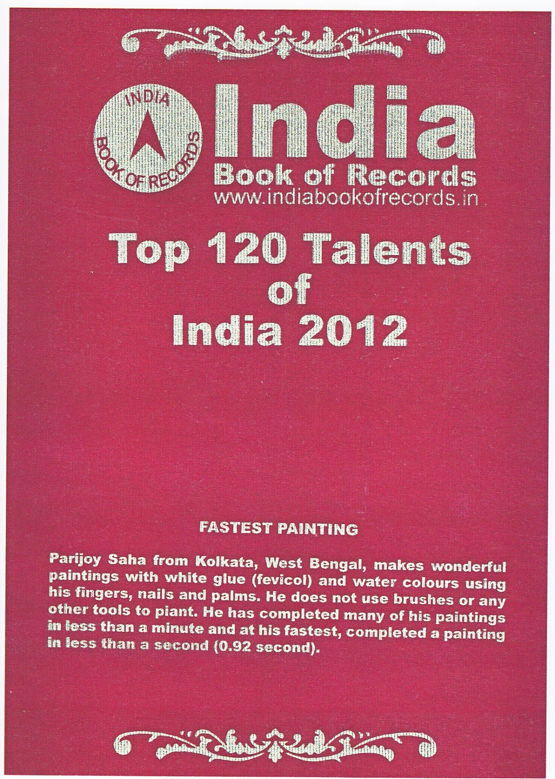 Included in the Top 120 Talents of the Nation