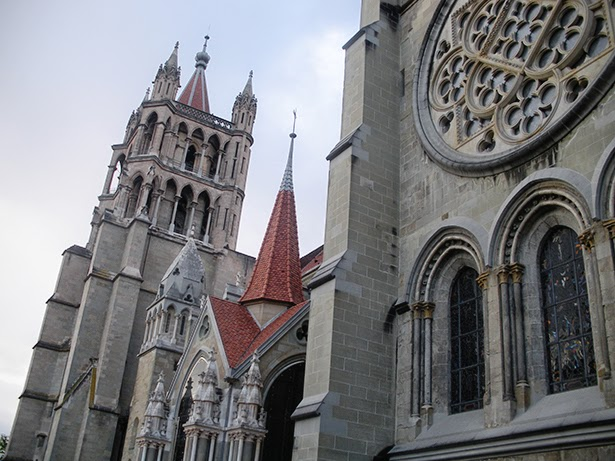 A cathedral in Lausanne, Switzerland