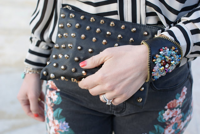 Zara studded clutch, Fashion and Cookies